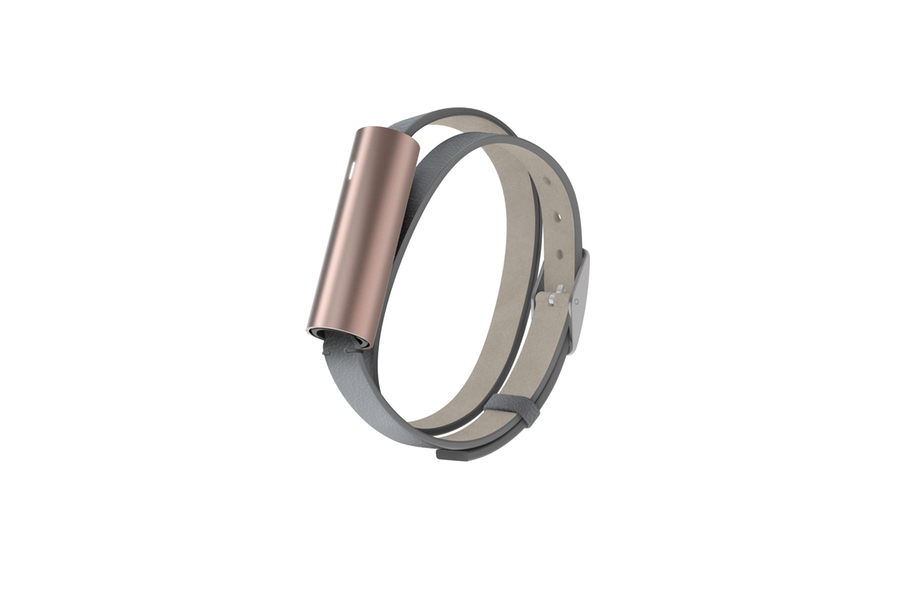 Snag a new Misfit fitness and sleep tracker of your choice, like this rose gold Ray with double-wrap band.